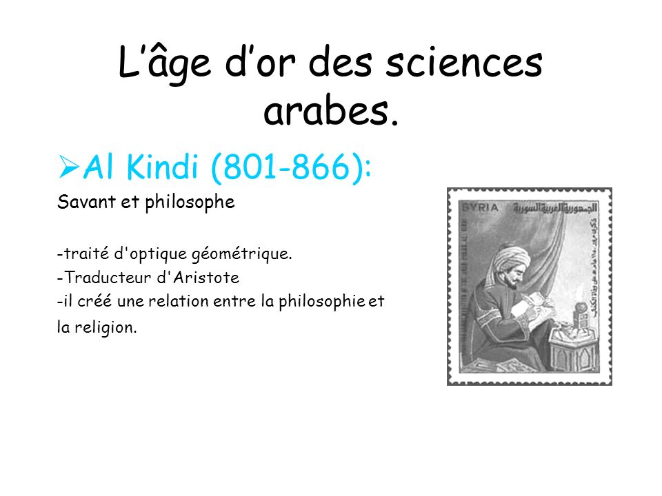 L'âge d'or des sciences arabes.