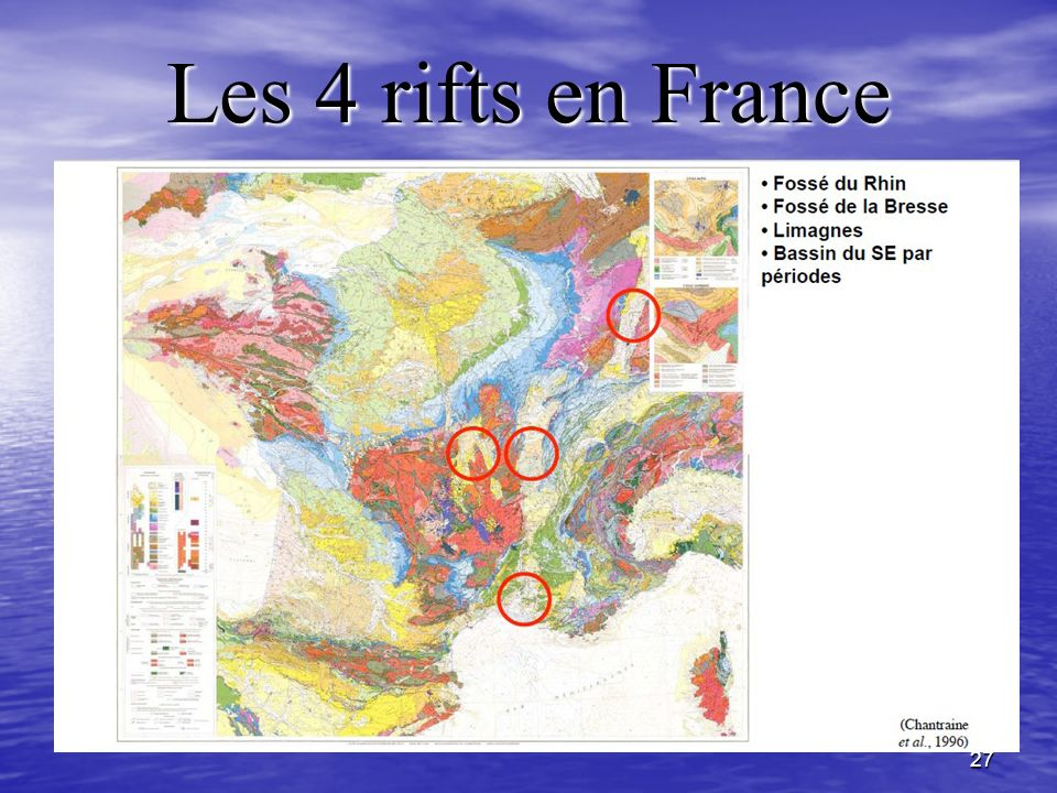 Les 4 rifts en France