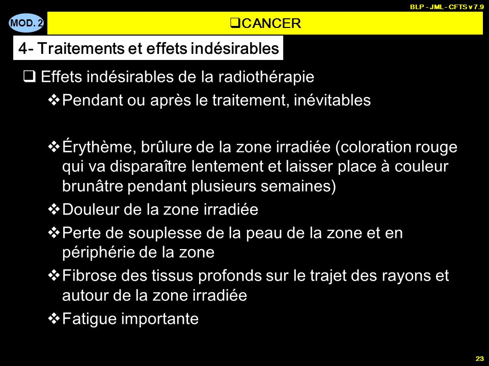 MALADIES GENERALES - Cancer