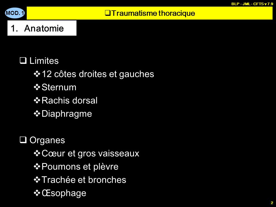 Traumatisme thoracique