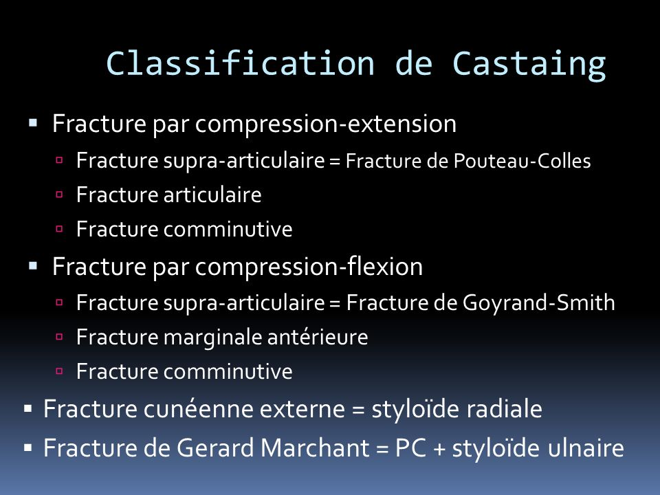 Classification de Castaing
