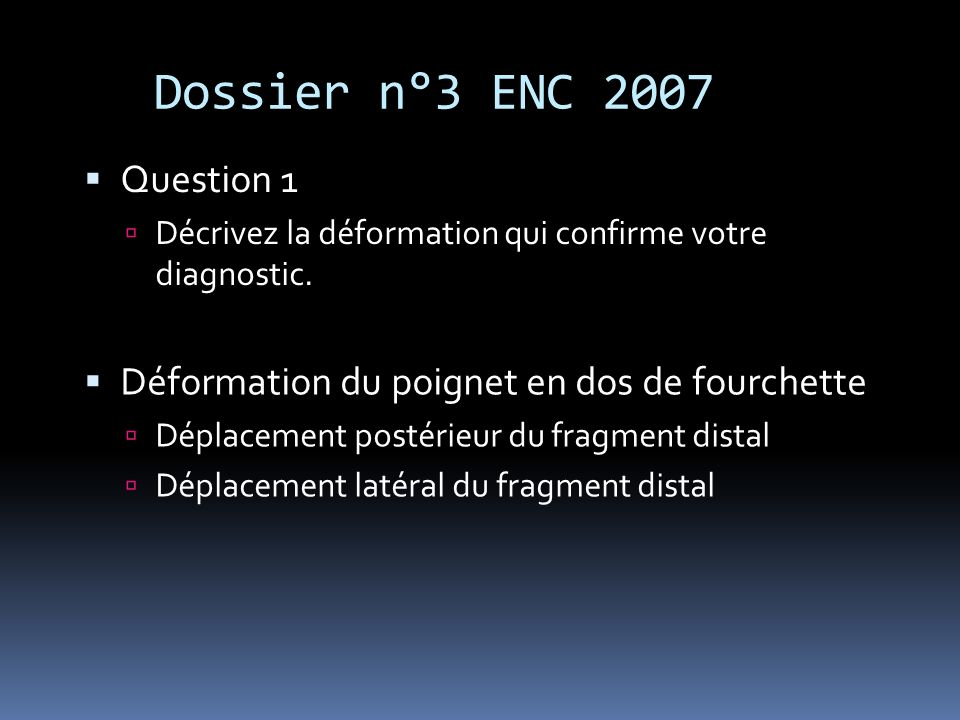 Dossier n°3 ENC 2007 Question 1