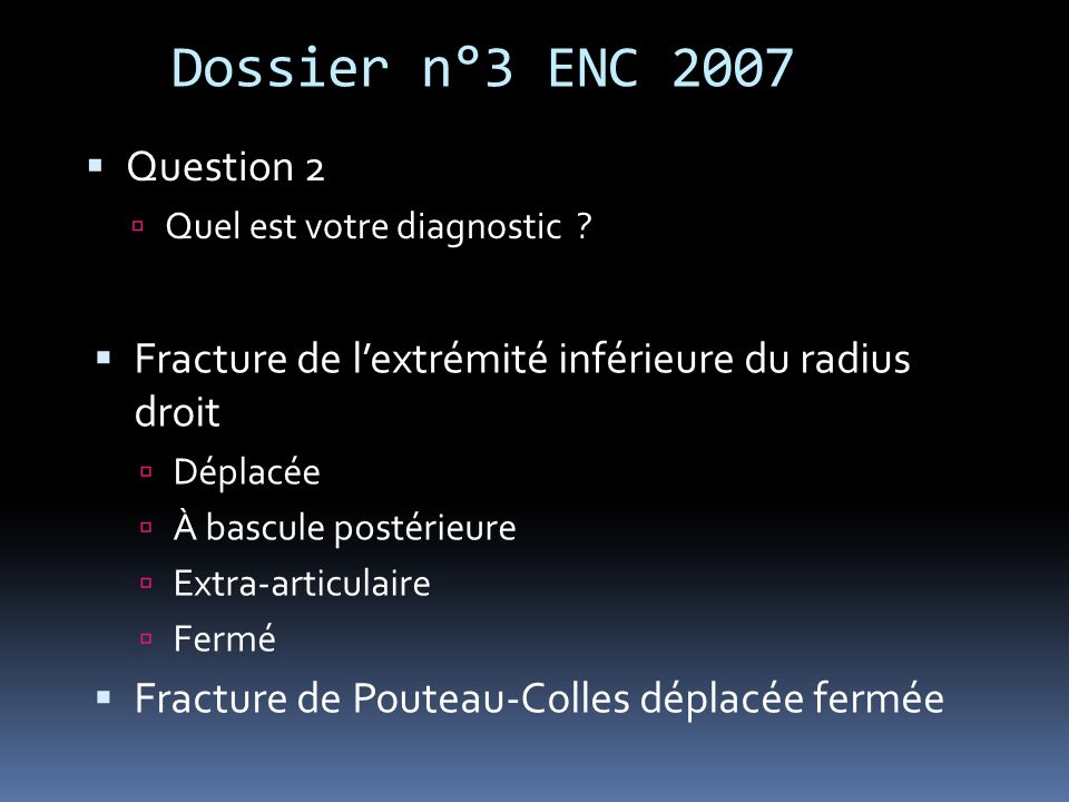 Dossier n°3 ENC 2007 Question 2