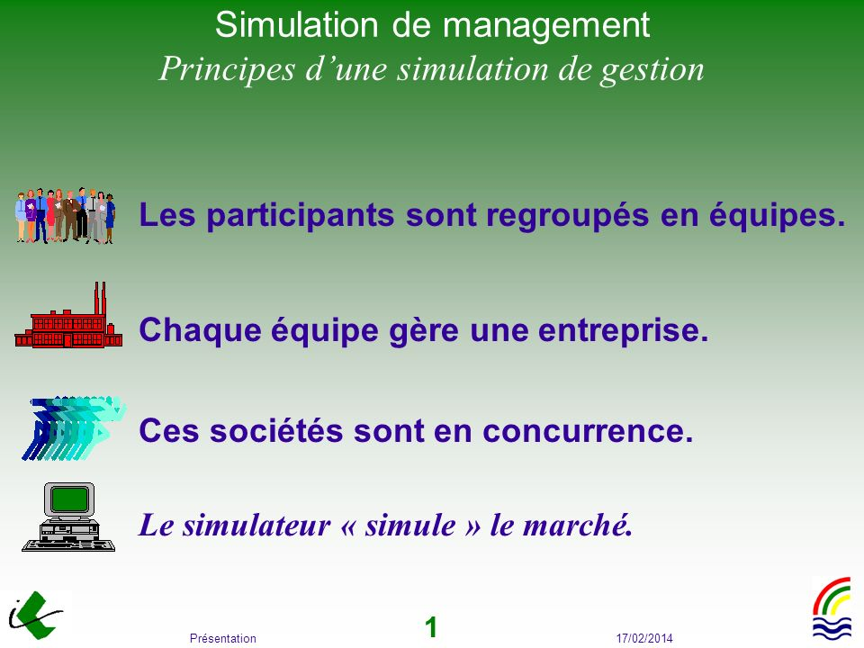 Simulation de management Principes d'une simulation de gestion