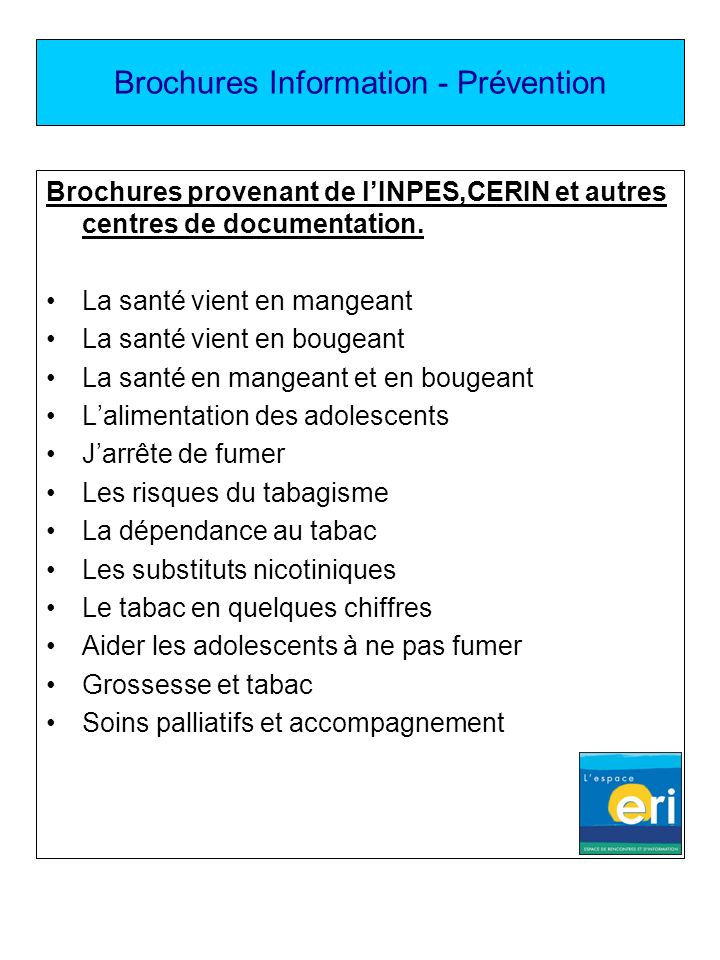 Brochures Information - Prévention