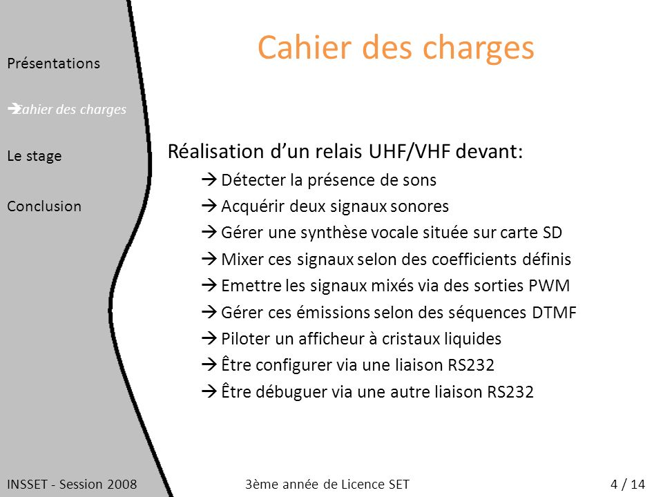 Dromas Cyrille Rapport De Stage 3eme Annee De Licence Set Ppt