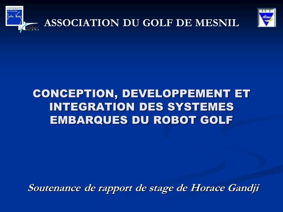 Soutenance De Rapport De Stage De Horace Gandji