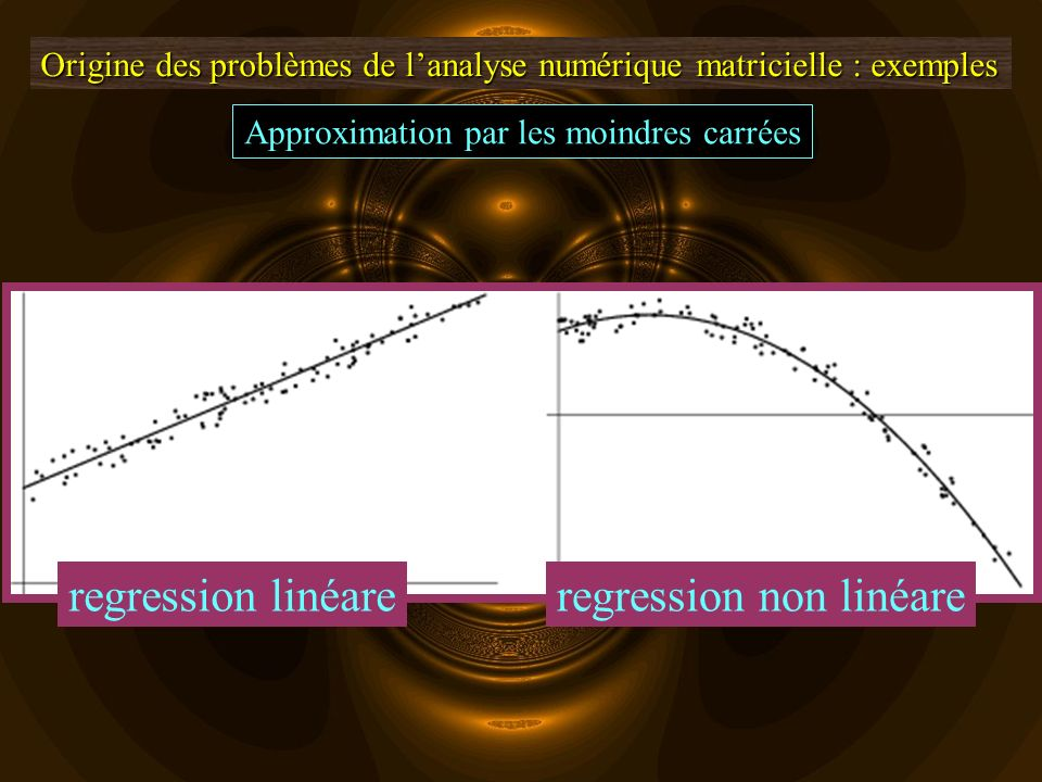 regression non linéare