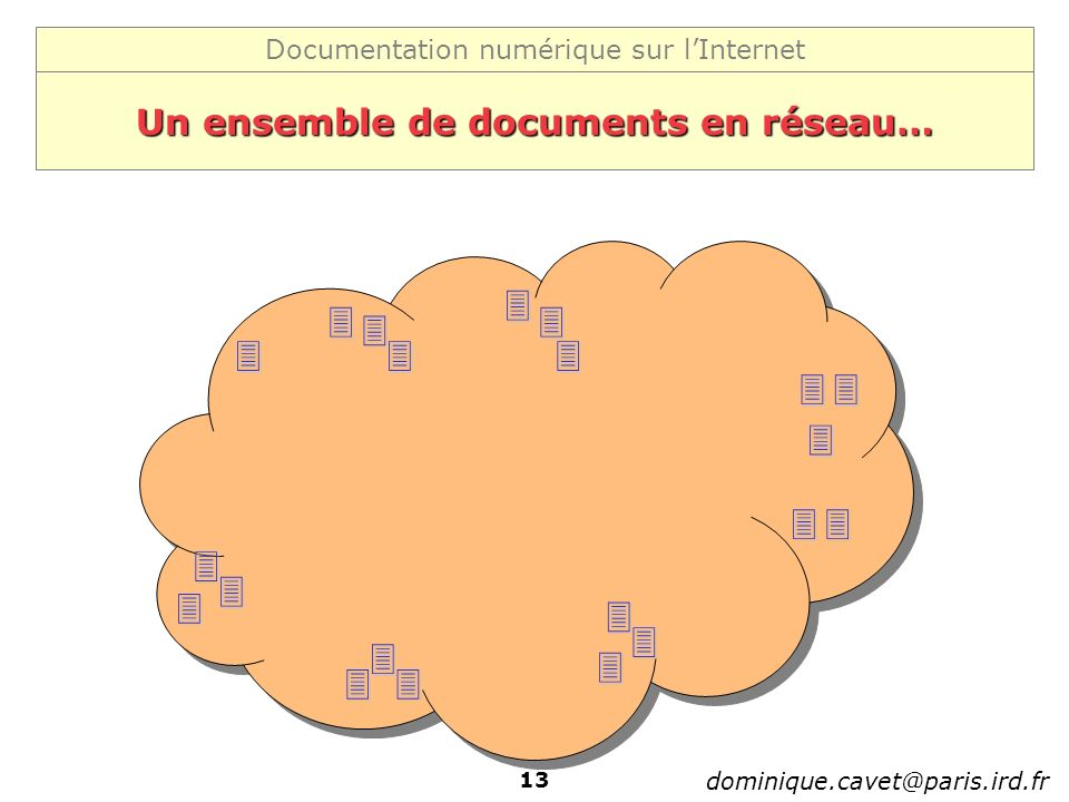 Un ensemble de documents en réseau…