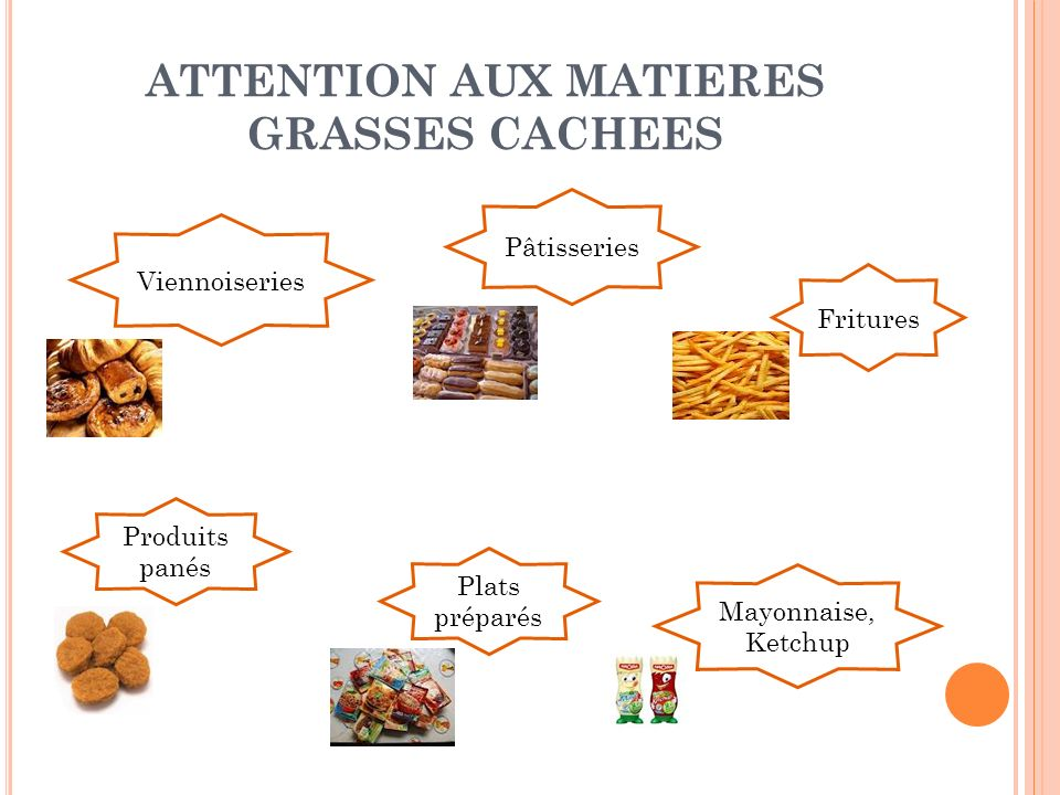 ATTENTION AUX MATIERES GRASSES CACHEES
