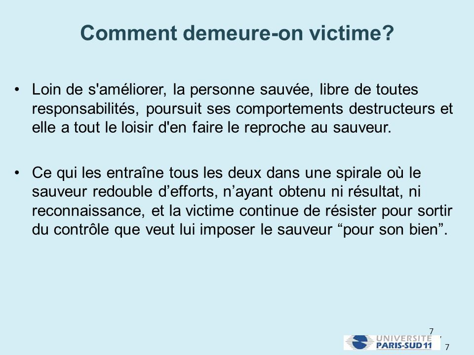 Comment demeure-on victime