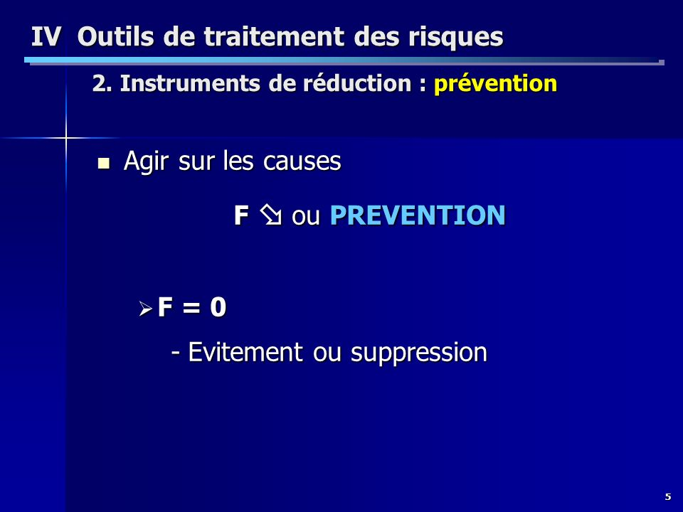 Evitement ou suppression