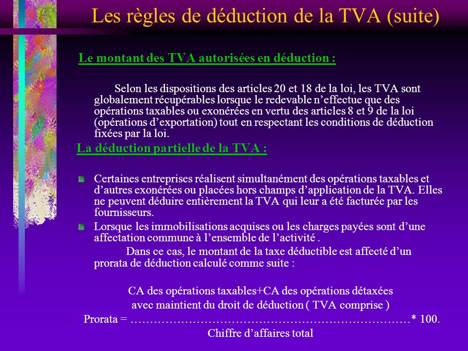 Introduction Le Regime Fiscal Adopte Avant L Institution De La Tva