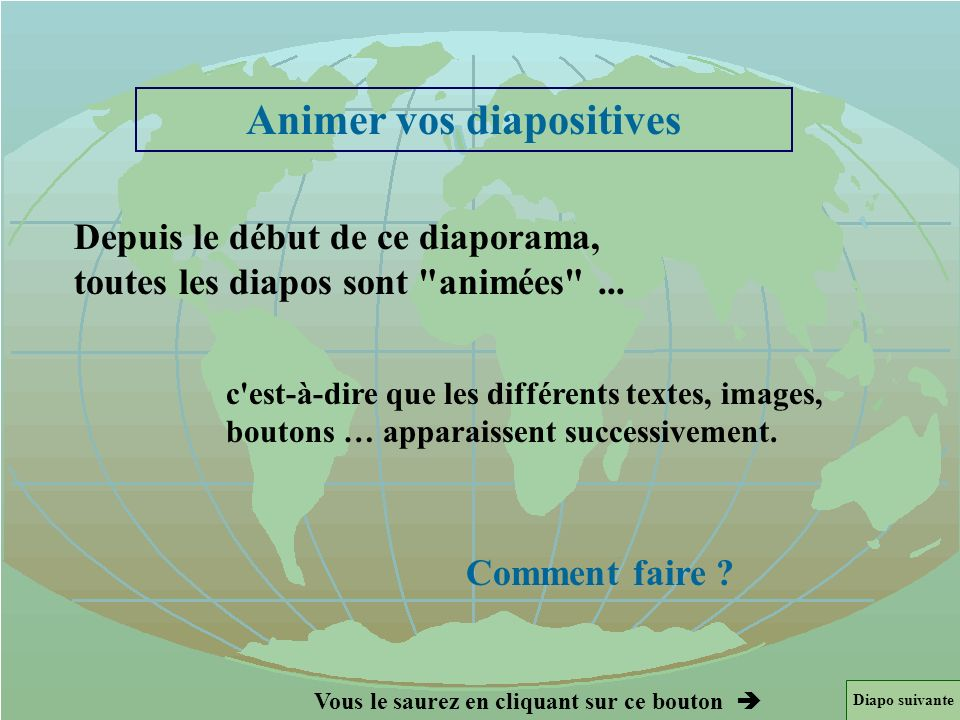 Animer vos diapositives