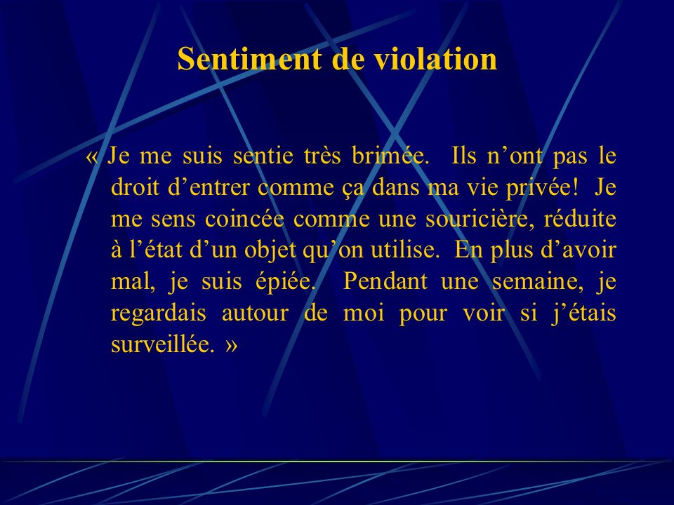 Sentiment de violation