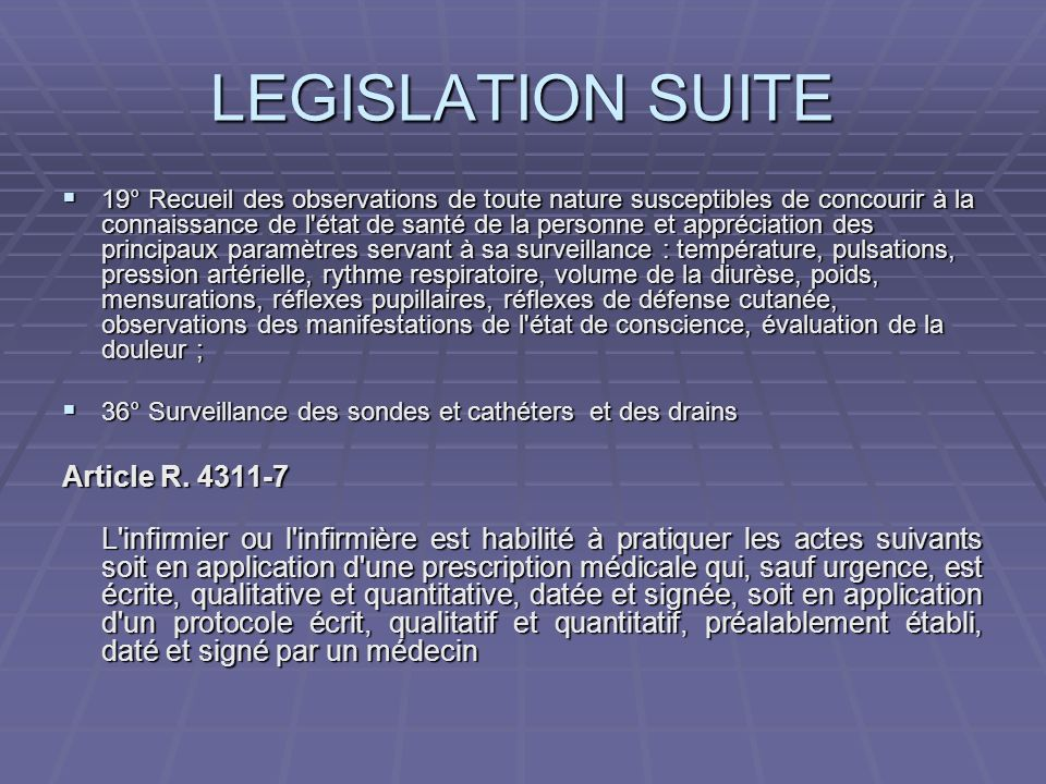 LEGISLATION SUITE Article R