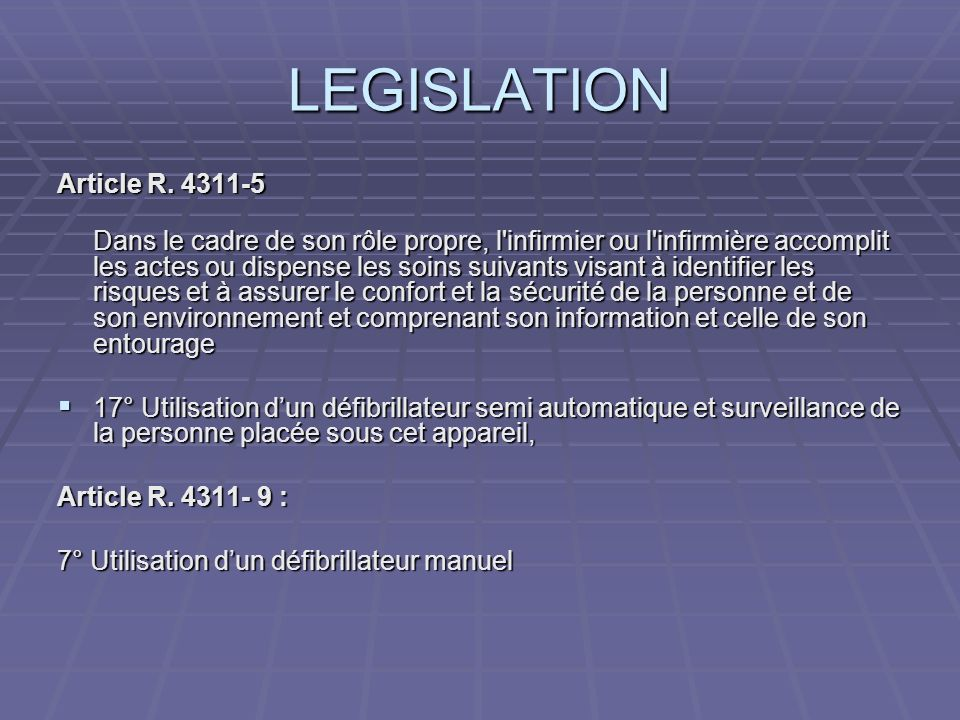 LEGISLATION Article R