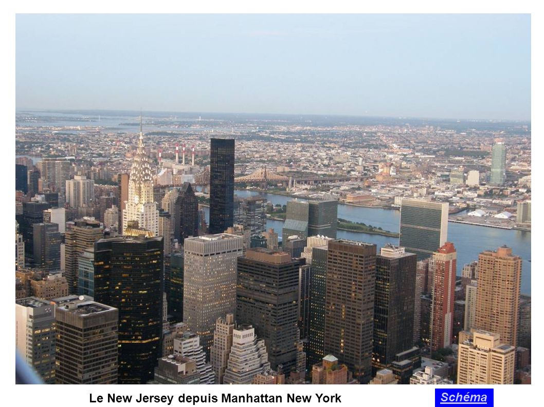 Le New Jersey depuis Manhattan New York