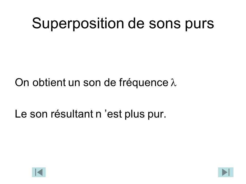 Superposition de sons purs