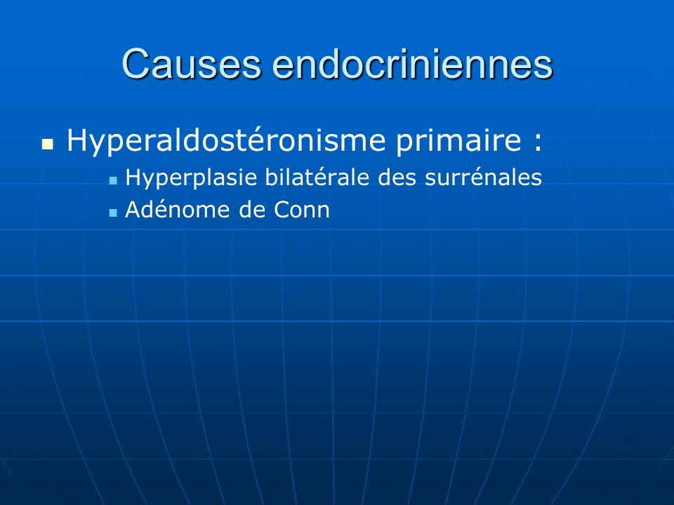 Causes endocriniennes