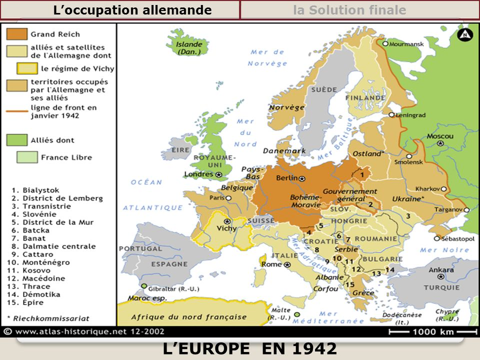 Carte De Leurope En 1942.Ii L Europe Sous Domination Nazie Ppt Telecharger