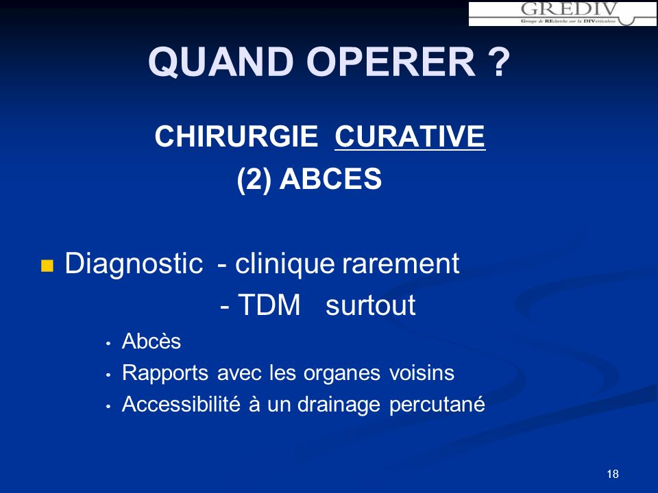 QUAND OPERER CHIRURGIE CURATIVE (2) ABCES