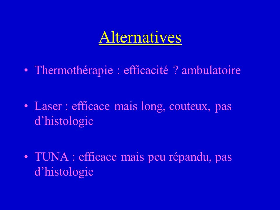 Alternatives Thermothérapie : efficacité ambulatoire