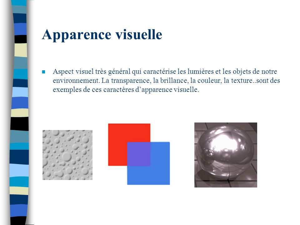 Apparence visuelle