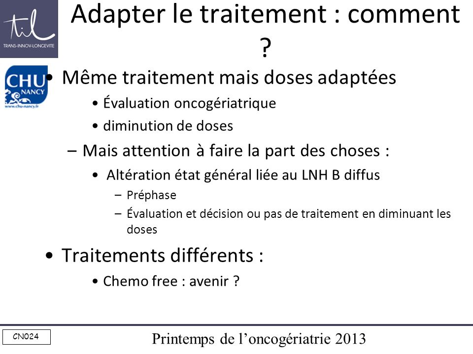 Adapter le traitement : comment