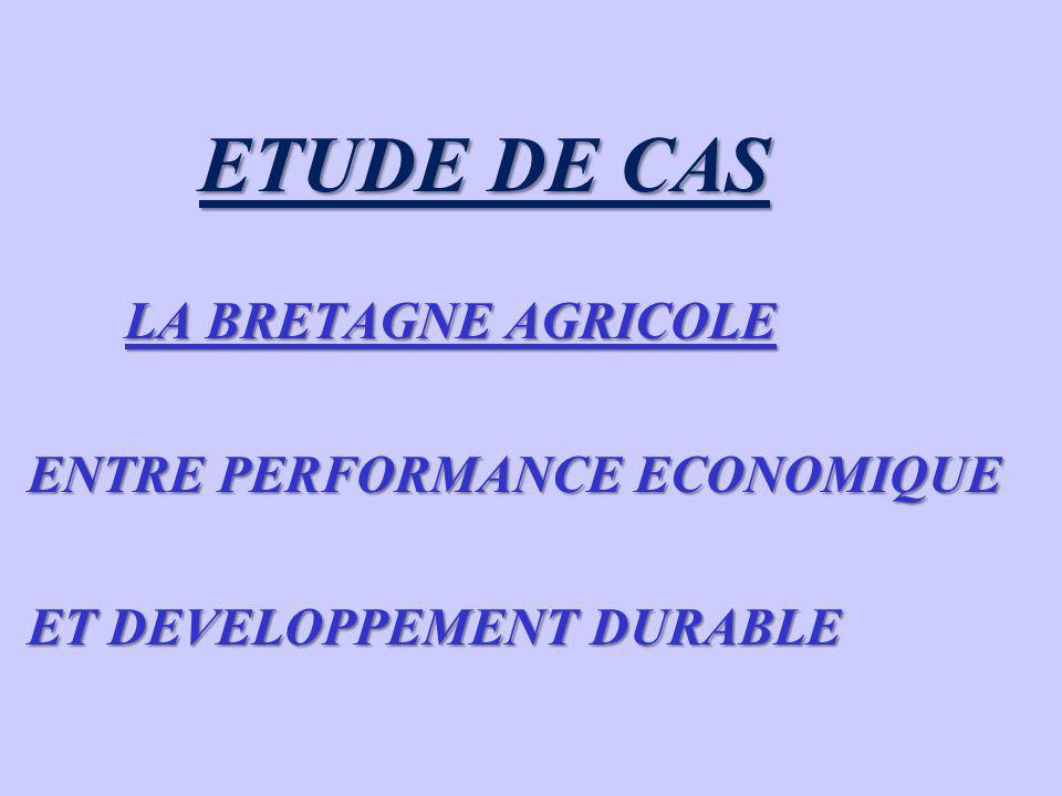 ENTRE PERFORMANCE ECONOMIQUE ET DEVELOPPEMENT DURABLE