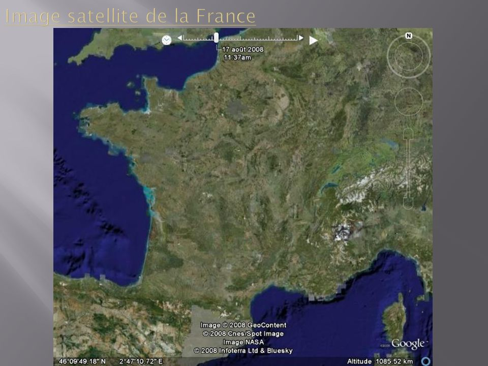 Image satellite de la France