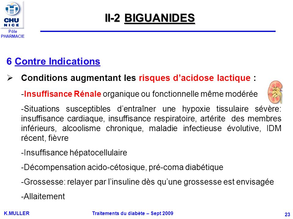 II-2 BIGUANIDES 6 Contre Indications