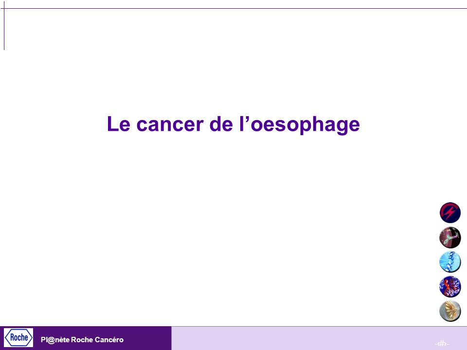 Le cancer de l'oesophage