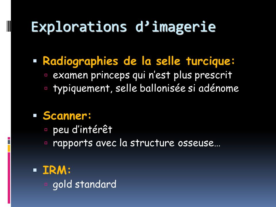 Explorations d'imagerie