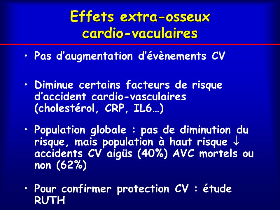 Effets extra-osseux cardio-vaculaires