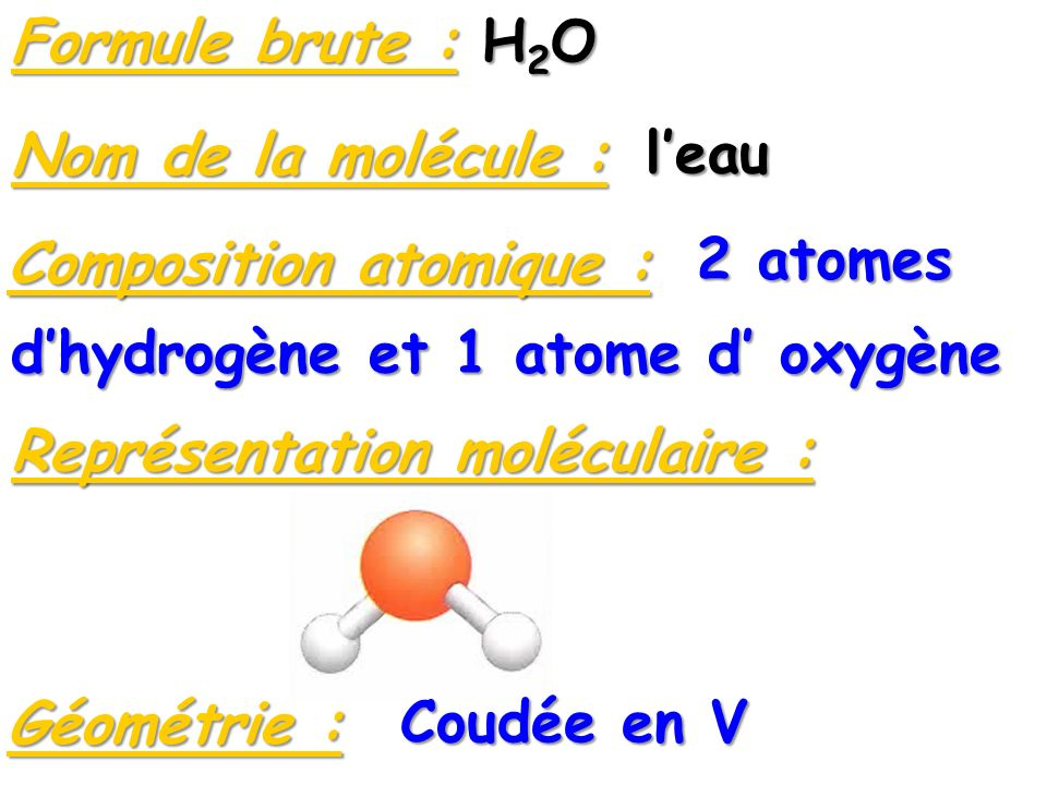 Composition atomique : 2 atomes