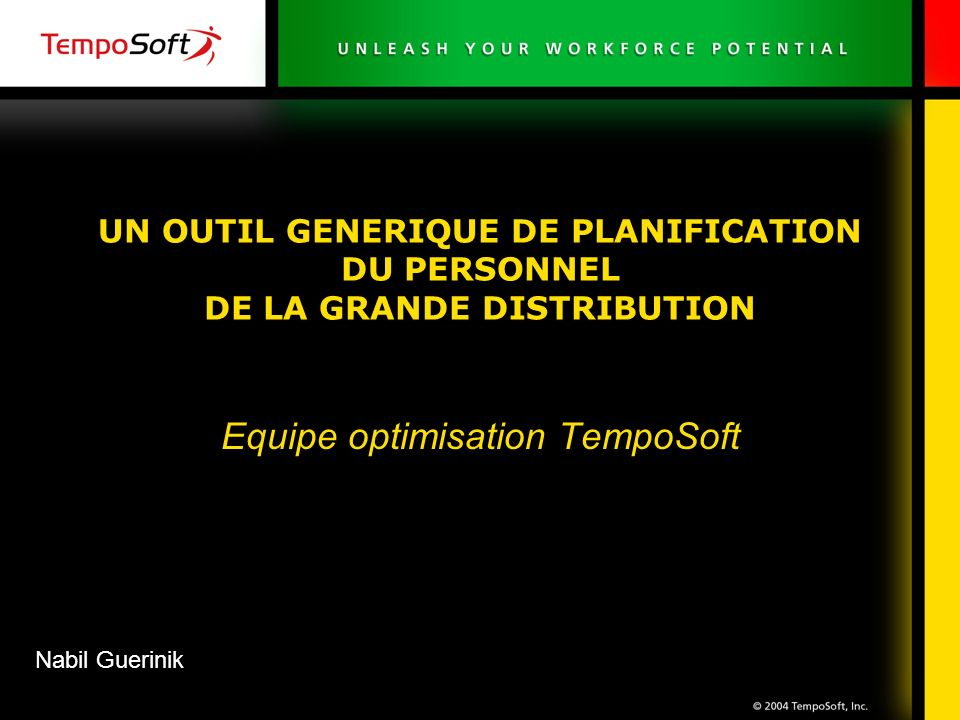 Equipe optimisation TempoSoft