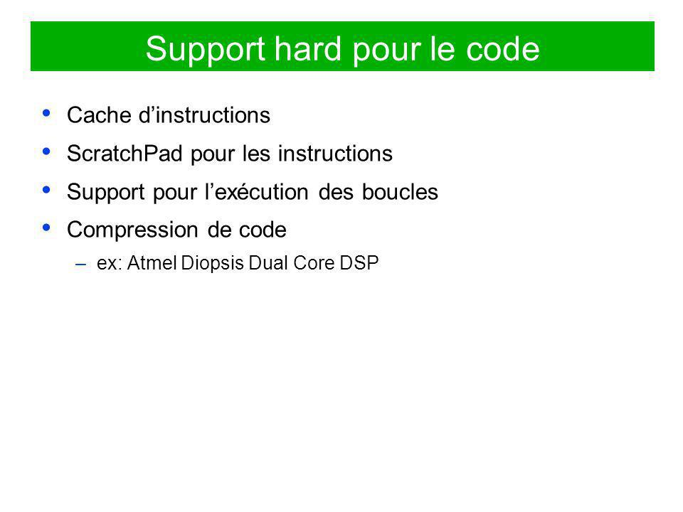 Support hard pour le code