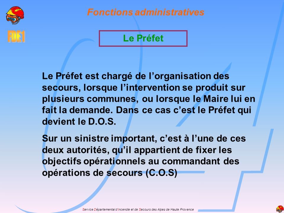 Fonctions administratives