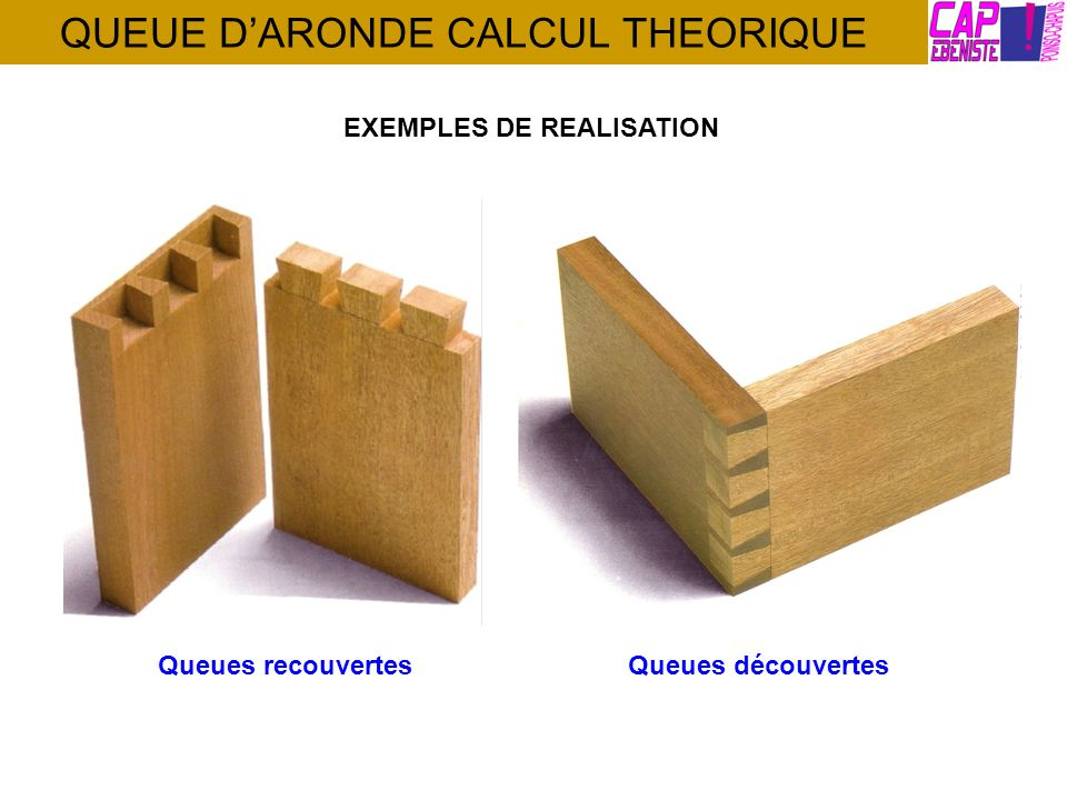 QUEUE D'ARONDE CALCUL THEORIQUE