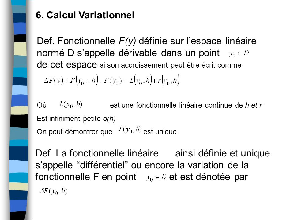 6. Calcul Variationnel