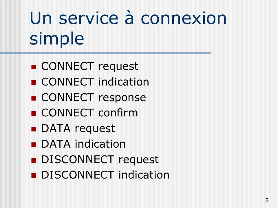 Un service à connexion simple