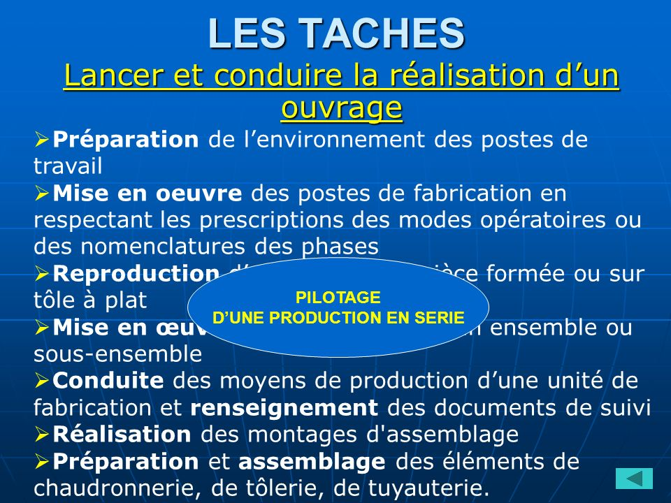 D'UNE PRODUCTION EN SERIE
