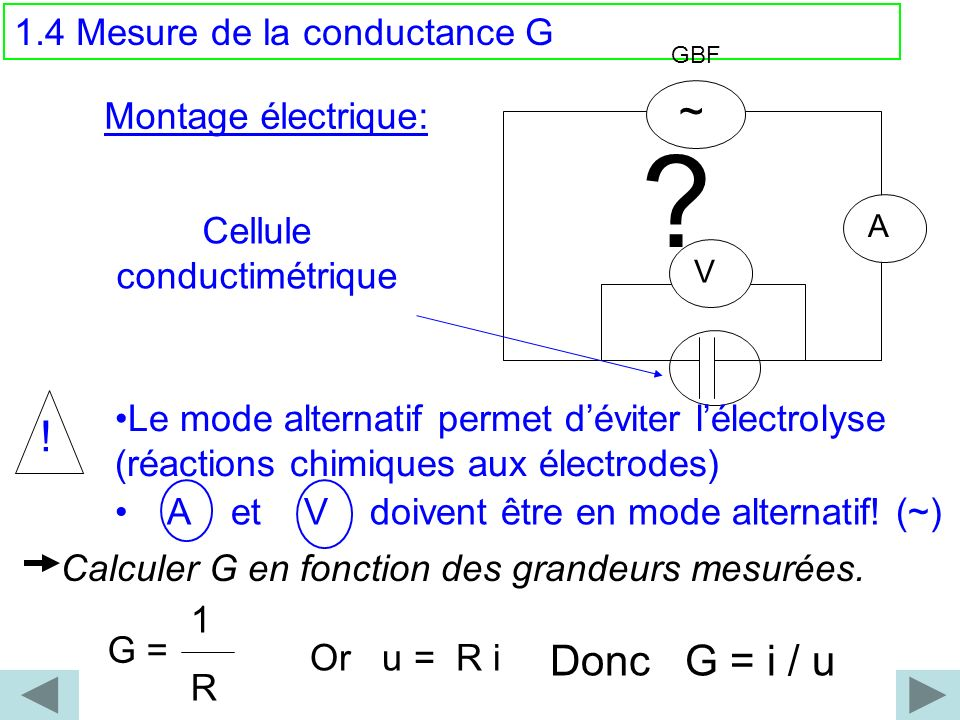 Cellule conductimétrique
