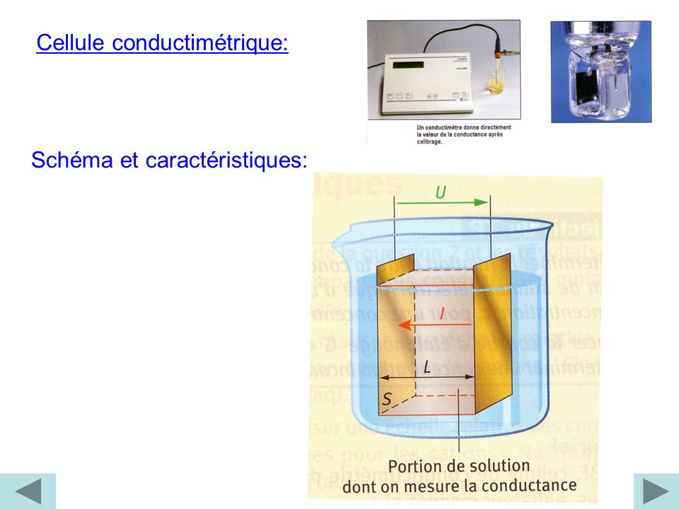 Cellule conductimétrique: