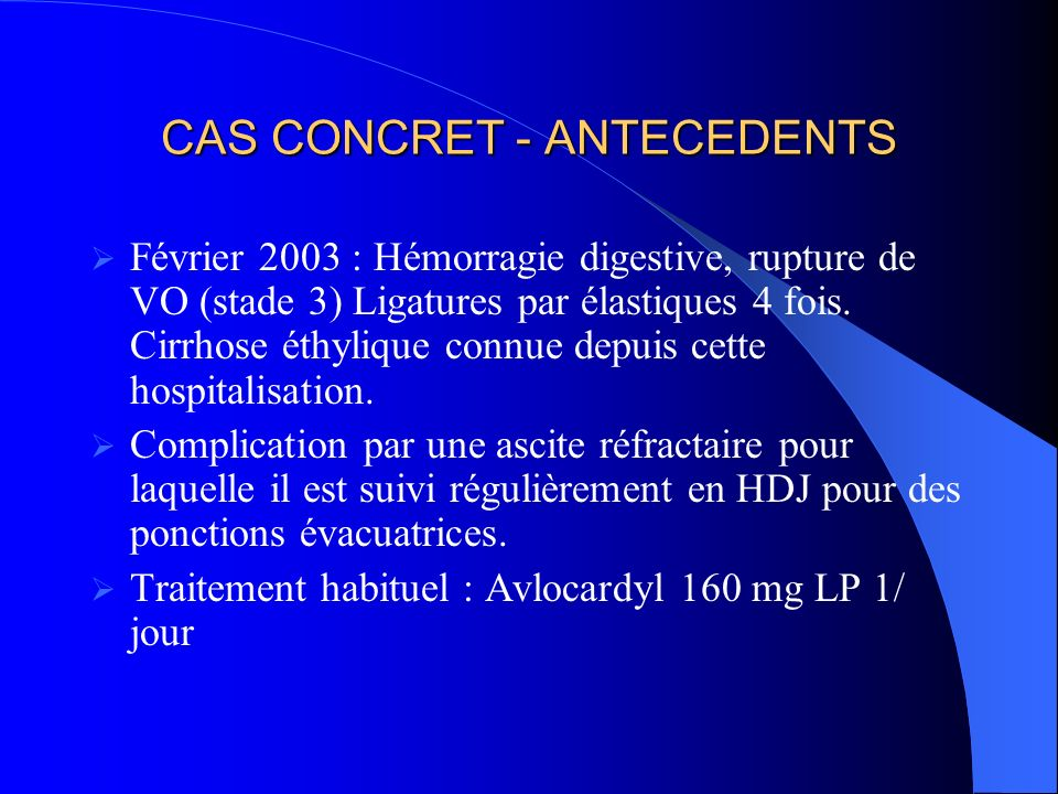 CAS CONCRET - ANTECEDENTS