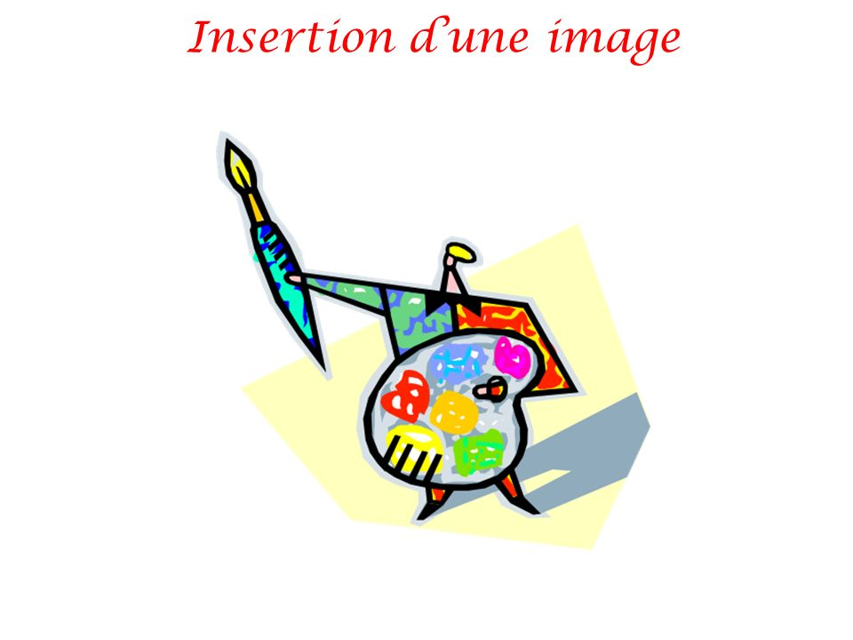 Insertion d'une image