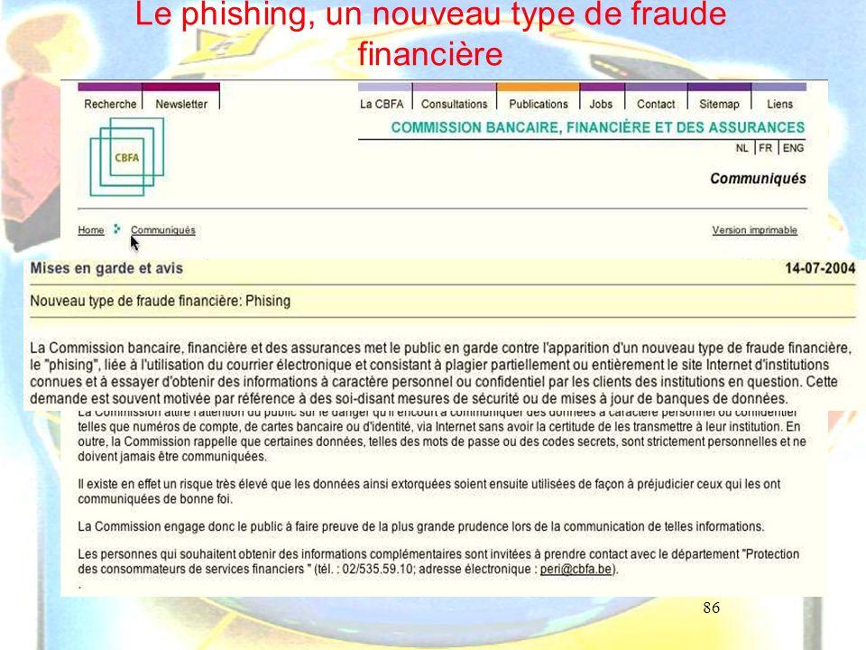rechercher phishing sur ordi