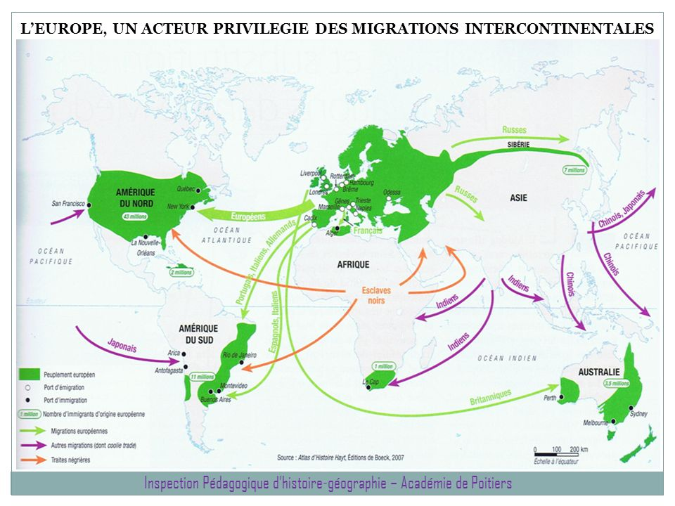 L'EUROPE, UN ACTEUR PRIVILEGIE DES MIGRATIONS INTERCONTINENTALES