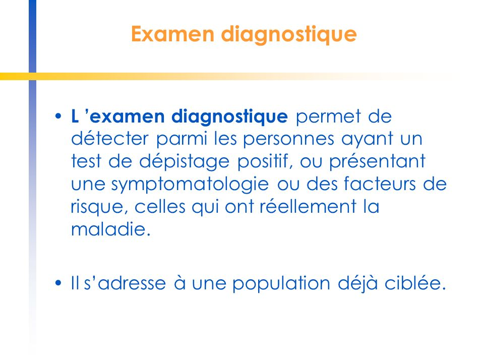 Examen diagnostique